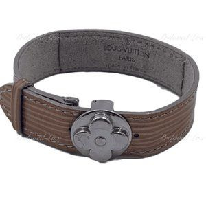 Authentic Louis Vuitton Brown Leather Bracelet